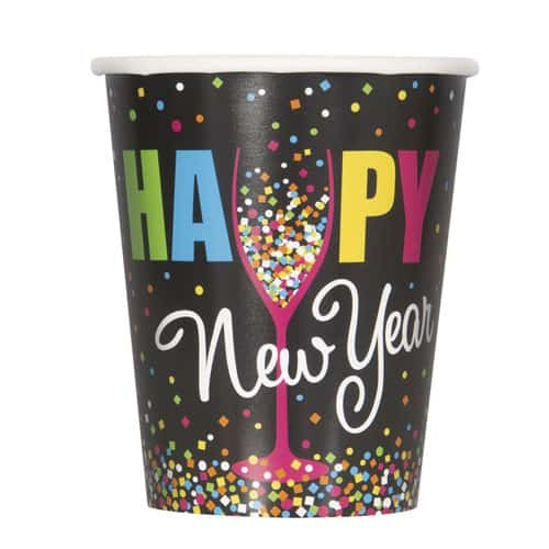 Confetti New Year Paper Cup 270ml