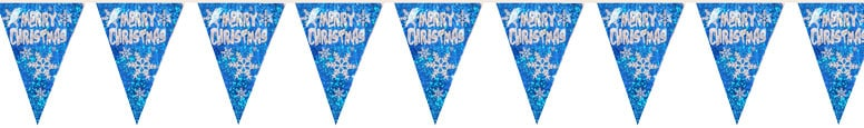 Merry Christmas Holographic Bunting 3.6m