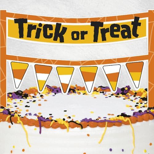 Trick or Treat Cake Banner 16cm