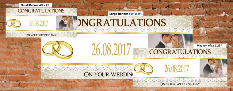 Personalised Wedding Banners