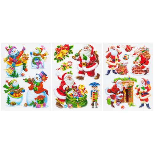 Assorted Christmas Pop-Up Self Adhesive Stickers