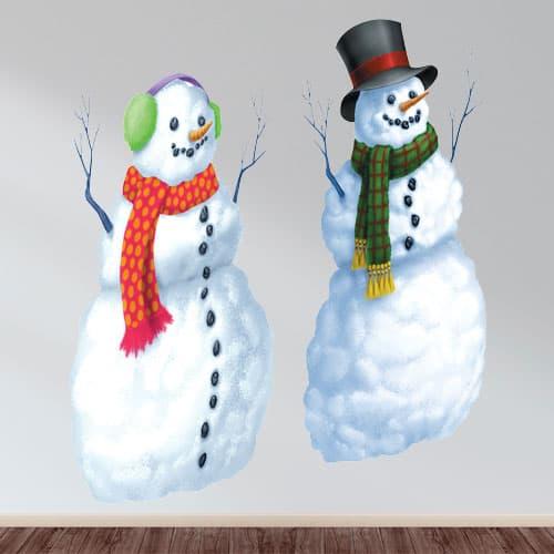 Christmas Snowmen Scene Setter 165cm - Pack of 2