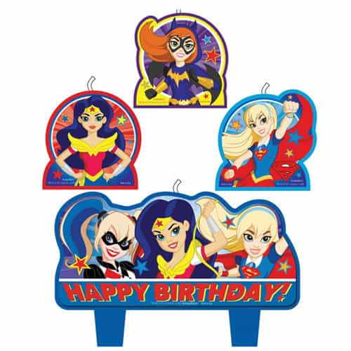 DC Superhero Girls Happy Birthday Candle Set - Pack of 4