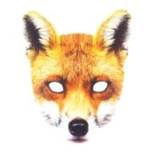 Fox Animal Cardboard Face Mask
