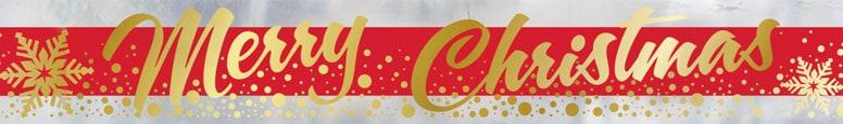 Gold Sparkle Christmas Foil Banner 365cm