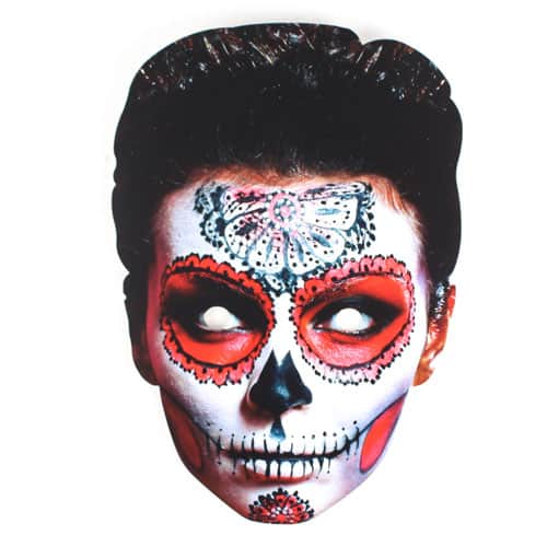 Halloween Day of the Dead Female Cardboard Face Mask Product Image