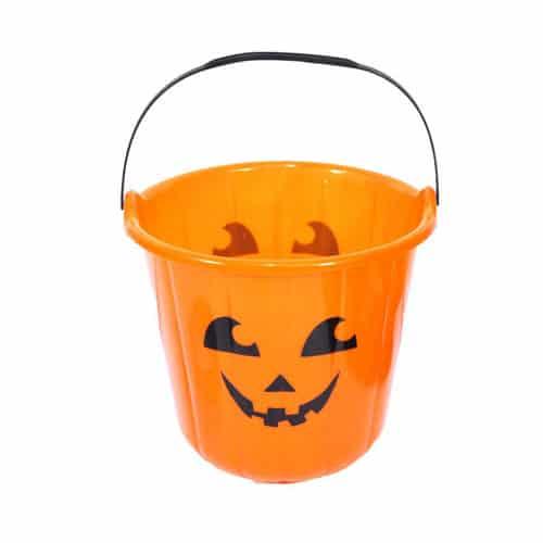 Halloween Pumpkin Candy Sweet Bucket 18cm