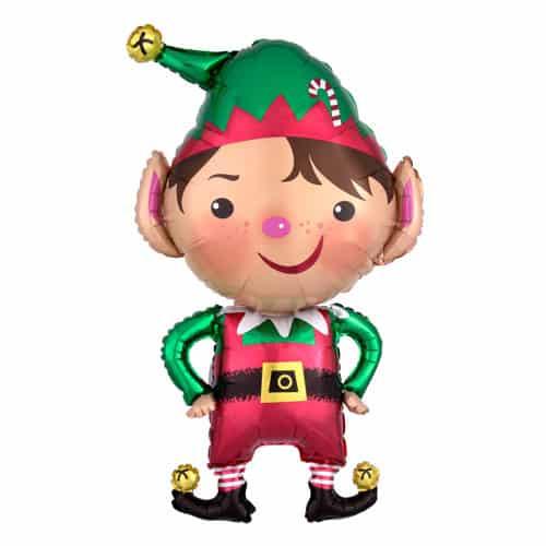 Jolly Christmas Elf Helium Foil Giant Balloon 55cm / 22 in