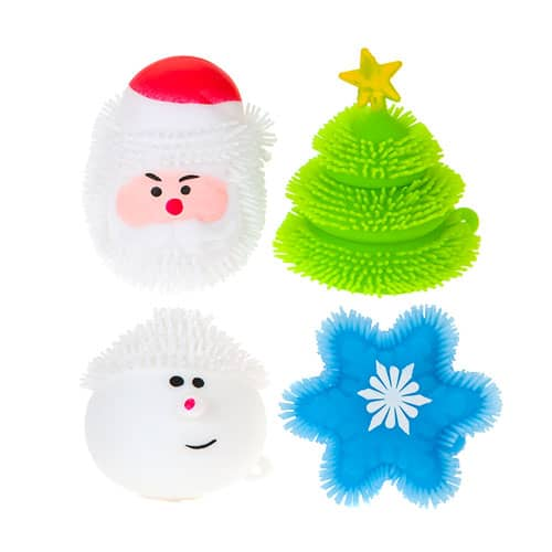 Assorted Light Up Christmas Puffer Toy 7cm