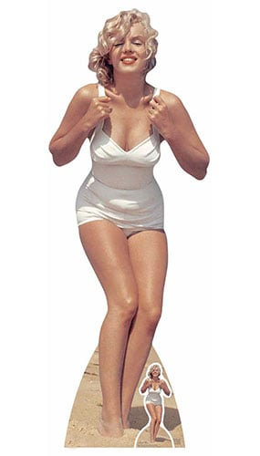 Marilyn Monroe White Swim Suit Lifesize Cardboard Cutout 172cm Product Gallery Image