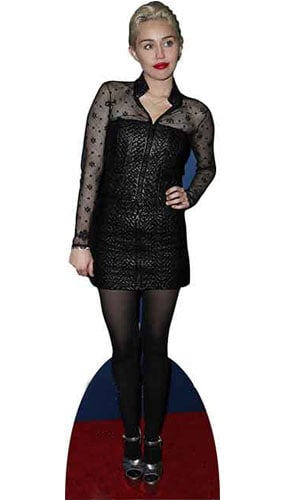 Miley Cyrus Black Dress Lifesize Cardboard Cutout 171cm Product Gallery Image