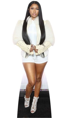 Nicki Minaj White Fur Jacket Lifesize Cardboard Cutout 163cm Product Gallery Image
