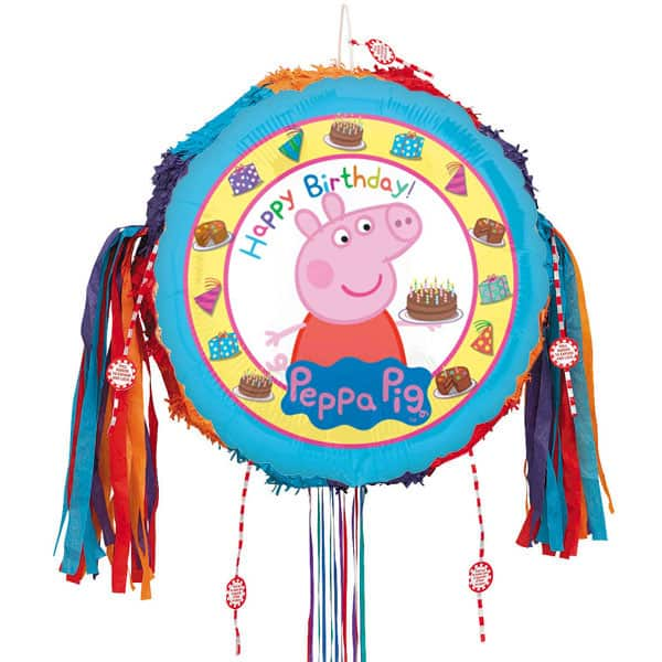 Peppa Pig Happy Birthday Pull String Pinata