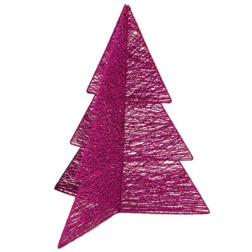 Pink Cotton and Wire Glitter Tree 46cm Product Image