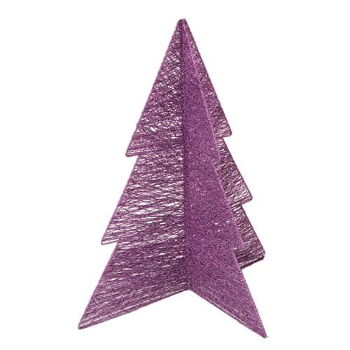 Purple Cotton and Wire Glitter Tree 46cm Product Image