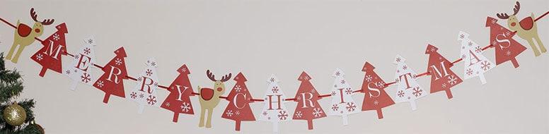 Christmas Rocking Rudolf Paper Bunting 3.5m