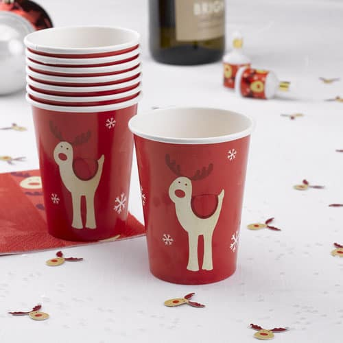 Christmas Rocking Rudolf Paper Cup 260ml Product Image