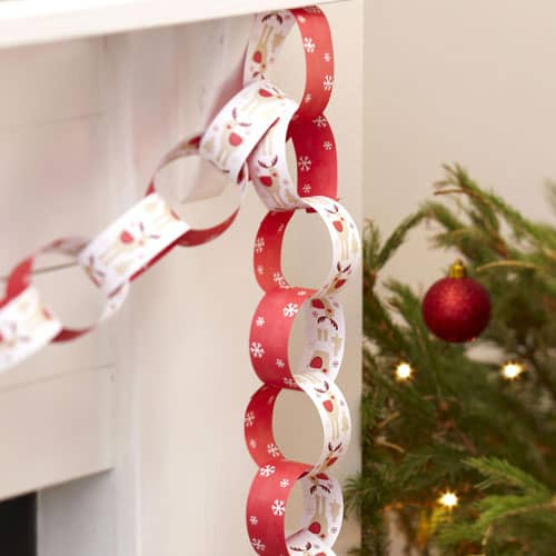 Christmas Paper Chains Uk.Christmas Rocking Rudolf Paper Chains Pack Of 50