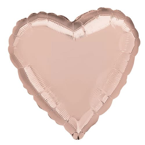 Rose Gold Heart Shape Foil Helium Balloon 43cm / 17Inch