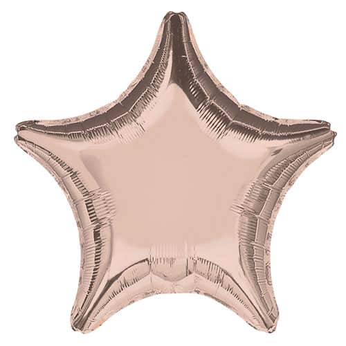 Rose Gold Star Shape Foil Helium Balloon 48cm / 19Inch