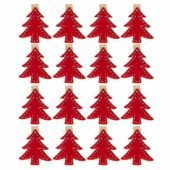 Christmas Tree Shaped Card Pegs – Pack of 16