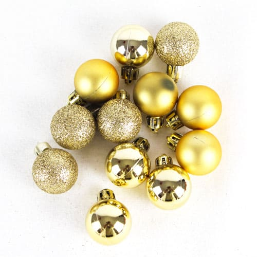 Assorted Christmas Gold Baubles - Pack of 24
