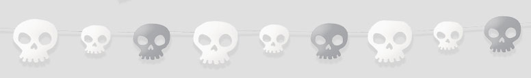 Skull Paper Garland 274cm