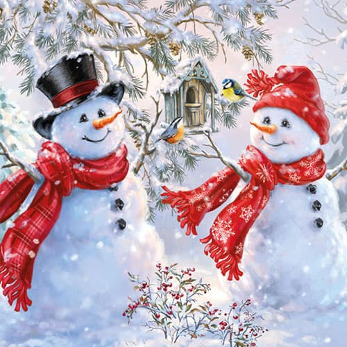 snowmen-and-birds-33cm-napkin-product-image