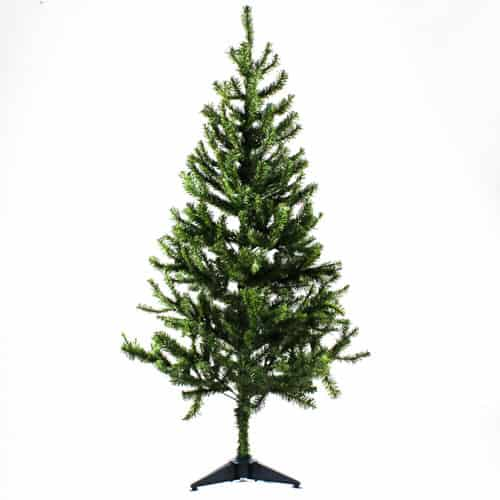 PVC Christmas Tree with Plastic Base 120cm
