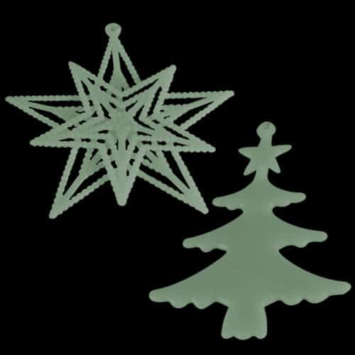 Assorted Glow In The Dark Tree Decorations - Pack of 2 Product Gallery Image
