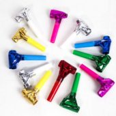 Assorted Colours Foil Blowouts – Pack of 12
