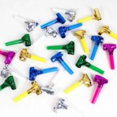 Assorted Colours Foil Blowouts – Pack of 24