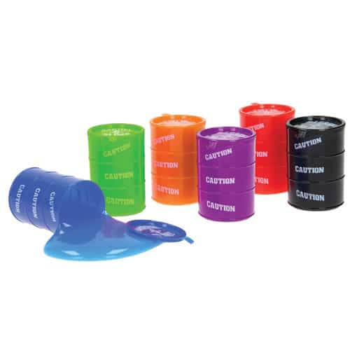Assorted Colours Large Slime Barrel 7cm - EU Certified Product Image
