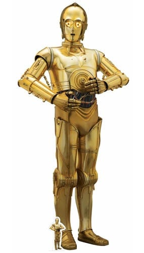 Star Wars The Last Jedi C-3PO Lifesize Cardboard Cutout 179cm Product Gallery Image