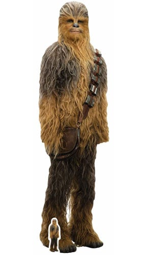 Star Wars The Last Jedi Chewbacca Lifesize Cardboard Cutout 195cm Product Gallery Image