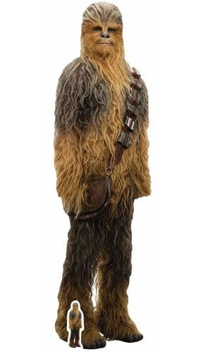 star wars the last jedi chewbacca lifesize cardboard cutout 195cm