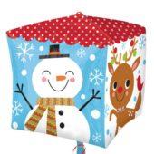 Cubez Christmas Characters Foil Helium Balloon 38cm / 15Inch