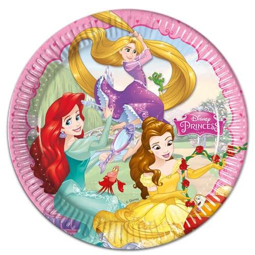 Disney Princess Round Paper Plates 23cm - Pack of 8