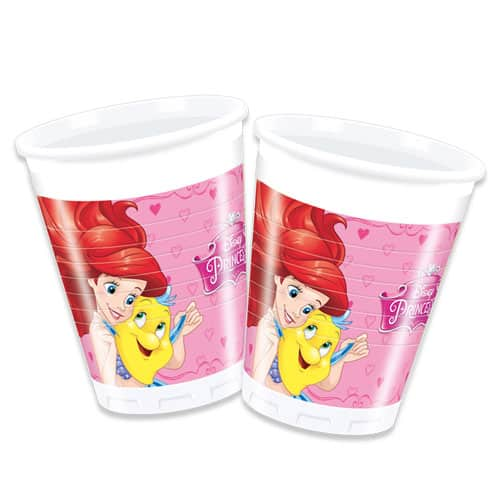 Disney Princess Plastic Cups 200ml - Pack of 8