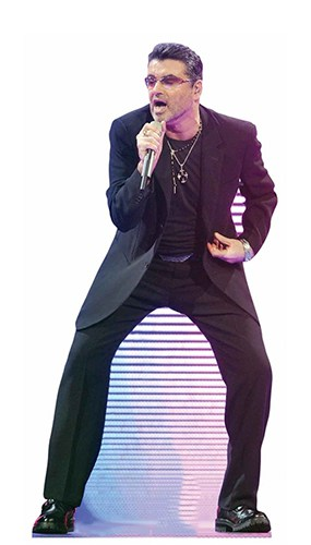 George Michael Singing Lifesize Cardboard Cutout 172cm Product Gallery Image
