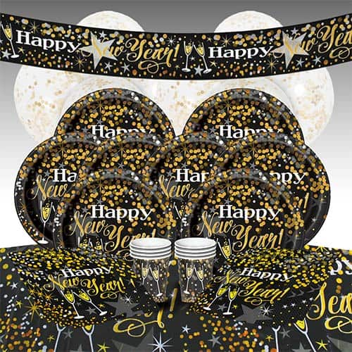 Glittering New Year 8 Person Deluxe Party Pack Product Image