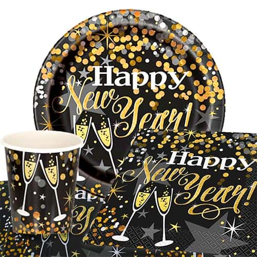Glittering New Year 8 Person Value Party Pack