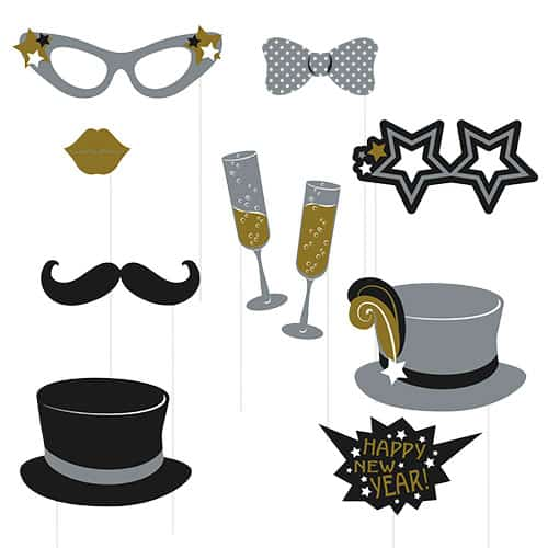 Happy New Year Photo Prop - Pack of 10