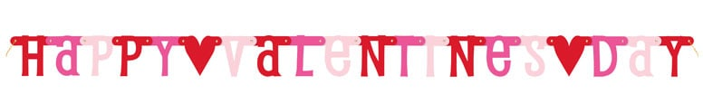 Happy Valentines Day Cardboard Letter Banner 187cm