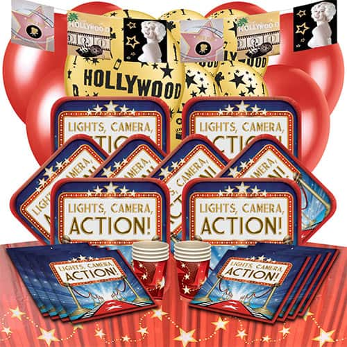 Hollywood Lights 16 Person Deluxe Party Pack