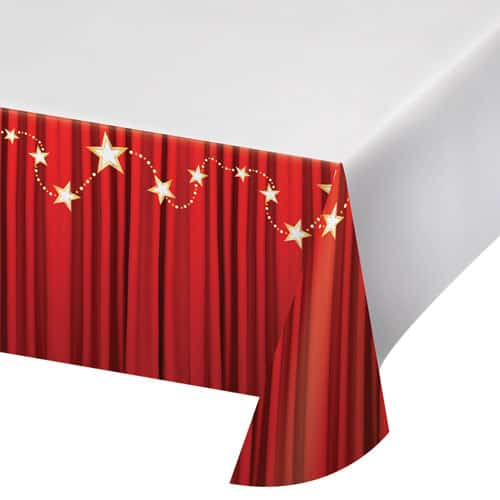 Hollywood Lights Plastic Tablecover 259cm x 137cm