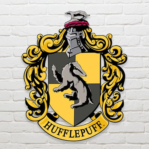 Harry Potter Wizarding World Hufflepuff Emblem Wall Art Cutout 61cm Product Gallery Image