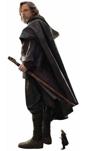 Star Wars The Last Jedi Luke Skywalker Lifesize Cardboard Cutout 178cm Product Gallery Image