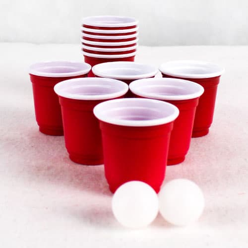 Mini Beer Pong Set - Pack of 14 Gallery Image