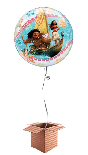 Disney Moana Bubble Helium Qualatex Balloon - Inflated Qualatex Balloon in a Box Product Image